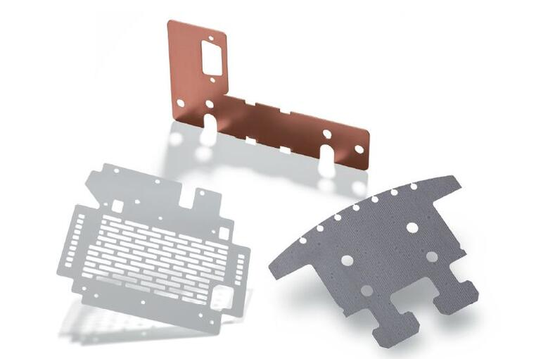 Sheet metal parts 3 mm thick and less cut with a Fiber laser system.